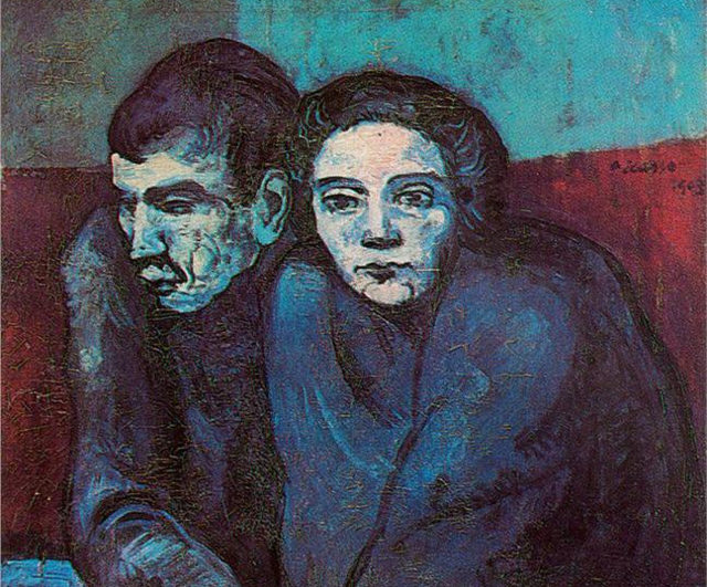 Man and Woman in Cafe, by Picasso