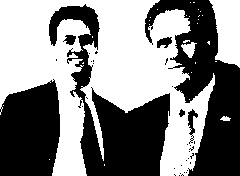 Ed Miliband and Mitt Romney