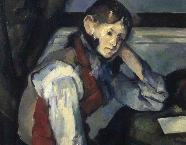 Boy in a Red Vest by Cezanne