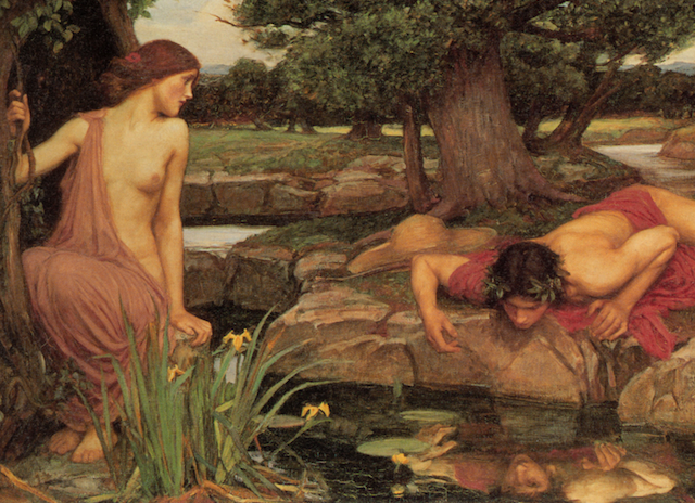 Echo and Narcissus by Waterhouse