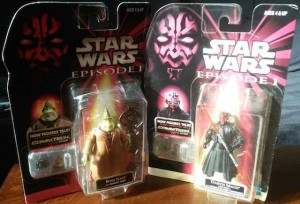 Darth Maul and Boss Nass action figures